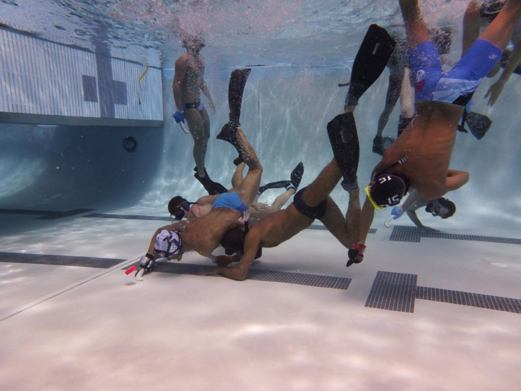 Underwater Hockey - photo coutesy of Yori Huynh Clark Weeks loves underwater hockey